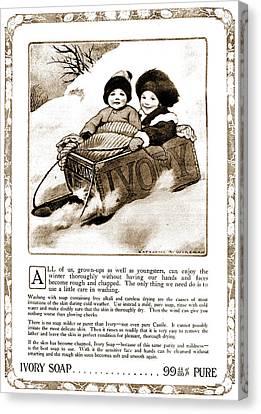 Vintage Ivory Soap Advert Canvas Print