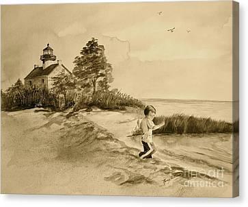 Vintage Jacob At East Point  Canvas Print
