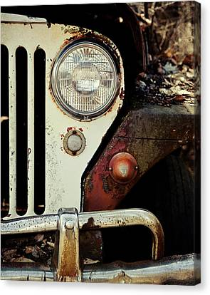 Vintage Jeep Willys Rusty Classic Car Canvas Print by Lisa Russo