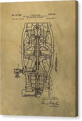 Vintage Jet Engine Patent Canvas Print by Dan Sproul