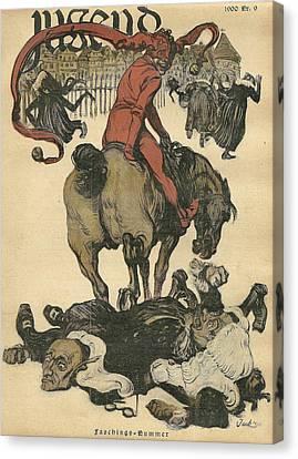 Vintage Jugend Magazine Cover Canvas Print by Konni Jensen