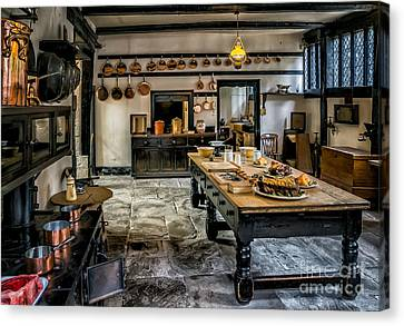 Grill Canvas Print - Vintage Kitchen by Adrian Evans