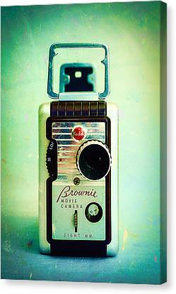 Vintage Kodak Brownie Movie Camera Canvas Print by Jon Woodhams