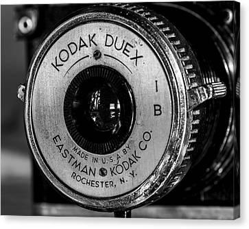 Vintage Kodak Duex Detail Canvas Print by Jon Woodhams