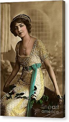 Vintage Lady Art Holly  Limited Sizes Canvas Print