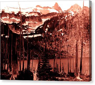 Canvas Print featuring the photograph Vintage Lake Louise Early 1900 Era... by Eddie Eastwood