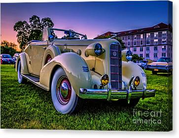 Vintage Lasalle Convertible Canvas Print by Edward Fielding