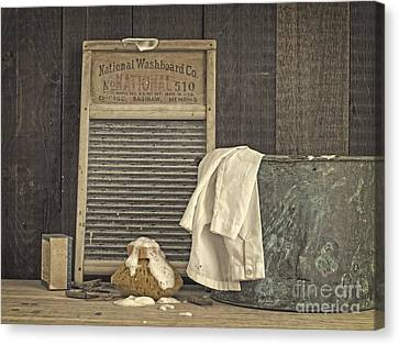 Vintage Laundry Room II By Edward M Fielding Canvas Print by Edward Fielding