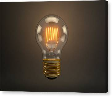 Vintage Light Bulb Canvas Print by Scott Norris