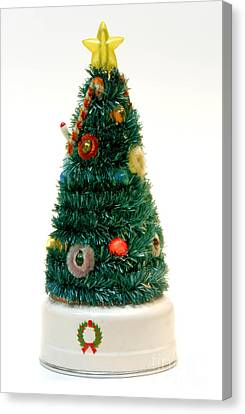 Christmas Lights Canvas Print - Vintage Lighted Christmas Tree Decoration by Amy Cicconi
