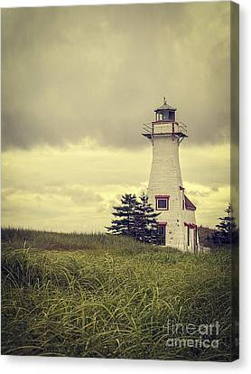 Vintage Lighthouse Pei Canvas Print by Edward Fielding