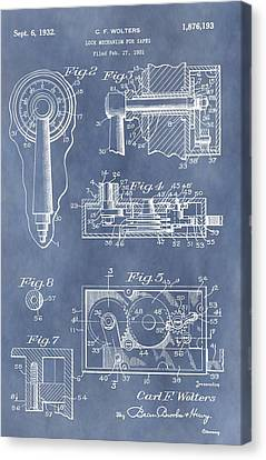 Vintage Lock Patent Canvas Print by Dan Sproul