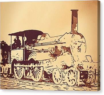 Vintage Locomotive Canvas Print