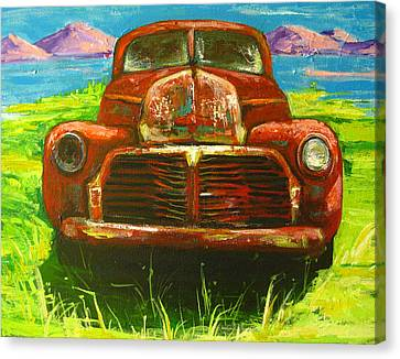 Rusted Cars Canvas Print - Vintage Love by Patricia Awapara