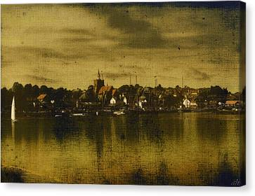 Canvas Print featuring the digital art Vintage Maldon  by Fine Art By Andrew David