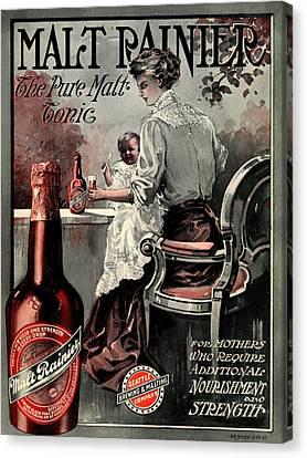 Vintage Malt Rainer Advertisement Canvas Print