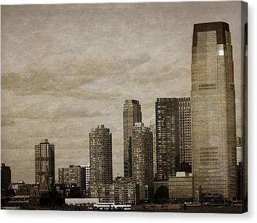 Vintage Manhattan Skyline Canvas Print by Dan Sproul