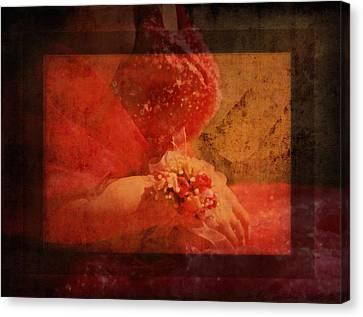 Vintage Memories Of First Love Canvas Print by Georgiana Romanovna