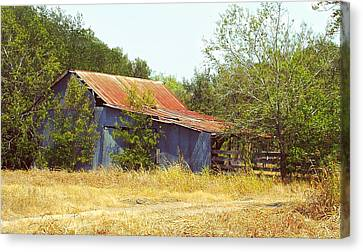 Vintage Metal Barn Canvas Print