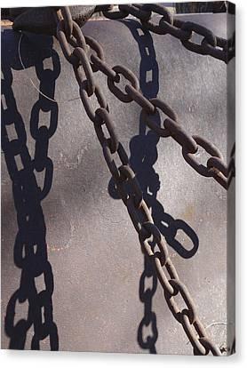 Vintage Metal Chains Canvas Print by Ann Powell