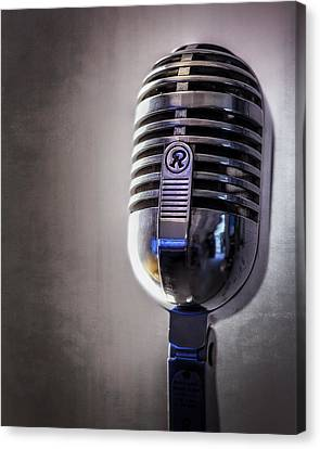 Broadcast Canvas Print - Vintage Microphone 2 by Scott Norris