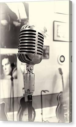 Vintage Microphone Sun Studio Canvas Print