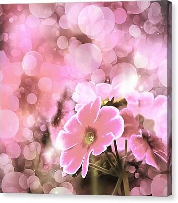 Vintage Modern Floral Bokeh Canvas Print by Georgiana Romanovna