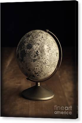 Vintage Moon Globe Canvas Print by Edward Fielding