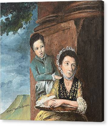 Vintage Mother And Son Canvas Print by Mary Ellen Anderson