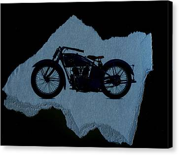 Vintage Motorcycle Canvas Print by David Ridley
