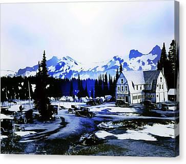 Canvas Print featuring the photograph Vintage Mount Rainier Camp And Store Supplies Early 1900 Era... by Eddie Eastwood
