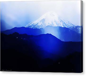 Canvas Print featuring the photograph Vintage Mount St. Helens From Pinnacle Peak Early 1900 Era... by Eddie Eastwood