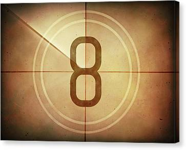 Vintage Movie Countdown Canvas Print by Ktsdesign