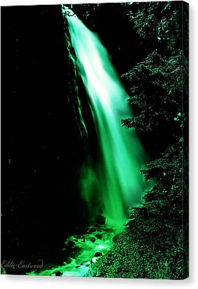 Canvas Print featuring the photograph Vintage Narada Falls Early 1900 Era... by Eddie Eastwood