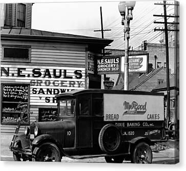 Vintage New Orleans 1936 Canvas Print