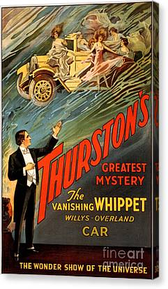 Vintage Nostalgic Poster - 8034 Canvas Print by Wingsdomain Art and Photography