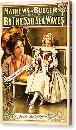 Vintage Nostalgic Poster - 8035 Canvas Print by Wingsdomain Art and Photography