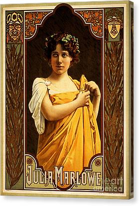 Vintage Nostalgic Poster - 8058 Canvas Print by Wingsdomain Art and Photography