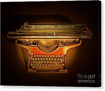 Vintage Nostalgic Typewriter 20150228 Canvas Print by Wingsdomain Art and Photography