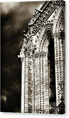 Vintage Notre Dame Details Canvas Print by John Rizzuto