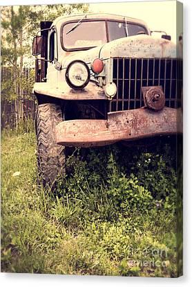 Vintage Old Dodge Work Truck Canvas Print by Edward Fielding