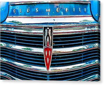 Grill Canvas Print - Vintage Olds by Jon Woodhams