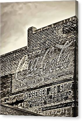 Vintage Painted Signage On Building Canvas Print