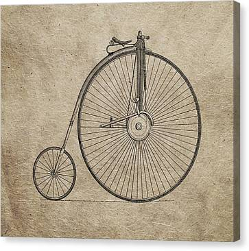 Vintage Penny-farthing Bicycle Illustration Canvas Print