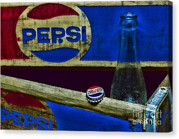 Vintage Pepsi-cola Canvas Print by Paul Ward