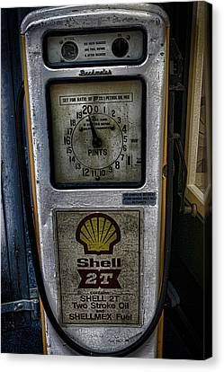 Oldies Canvas Print - Vintage Petrol Pump by Martin Newman