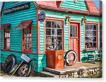 Vintage Phillips 66 Gas Canvas Print by Steven Bateson