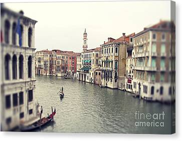 Vintage Photo Of Venice Grand Canal Canvas Print