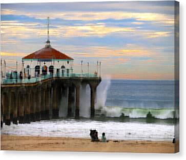 Vintage Pier Canvas Print by Joe Schofield