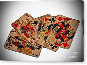 Vintage Playing Cards Art Prints Canvas Print